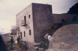 Obras fachada lateral 1992